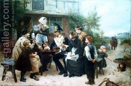 The Soldiers Return by Charles J. Staniland - Reproduction Oil Painting
