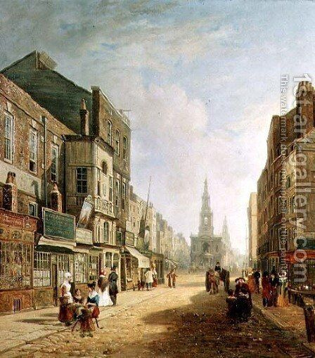 The Strand, 1824 by Colet Robert Stanley - Reproduction Oil Painting