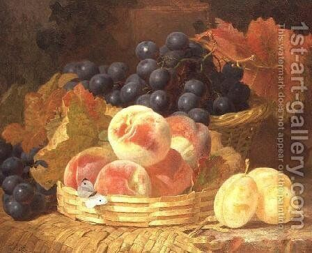 Still Life with Fruit and a Butterfly by Eloise Harriet Stannard - Reproduction Oil Painting