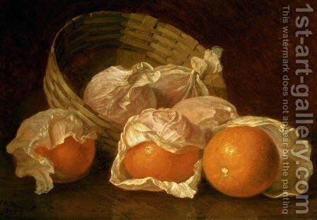 A Basket of Oranges by Eloise Harriet Stannard - Reproduction Oil Painting