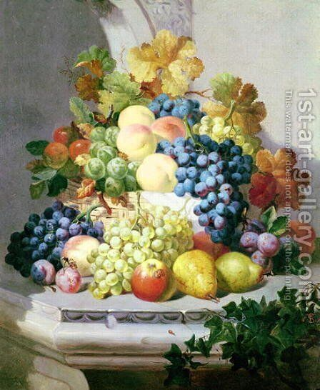 Still life with grapes and pears by Eloise Harriet Stannard - Reproduction Oil Painting
