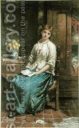 The Love Letter by Clark Stanton - Reproduction Oil Painting