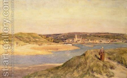 Hayle from Lelant, Cornwall by Herbert Hughes Stanton - Reproduction Oil Painting