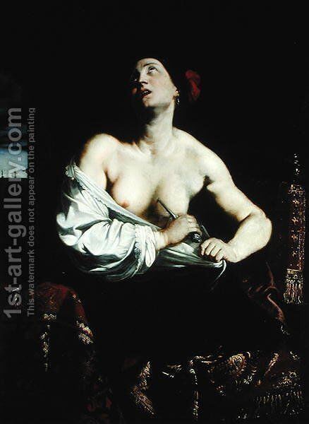 Lucretia, c.1640 by Massimo Stanzione - Reproduction Oil Painting