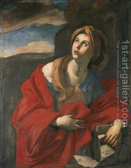 Sybil by Massimo Stanzione - Reproduction Oil Painting