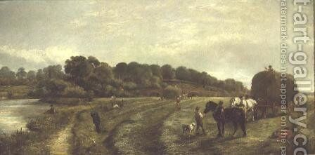 Haymaking by Arthur J. Stark - Reproduction Oil Painting