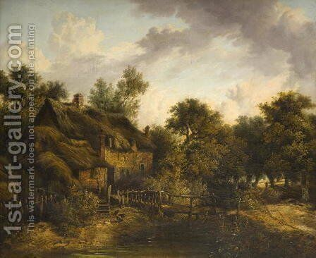 Landscape with Cottage by James Stark - Reproduction Oil Painting