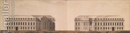 Plan for the square in front of the Admiralty, c.1770 by Ivan Yegorovich Starov - Reproduction Oil Painting