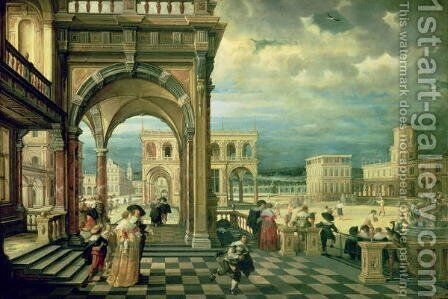 Italian Palace, 1623 by Hendrick van, the Younger Steenwyck - Reproduction Oil Painting