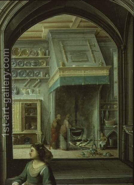Christ in the house of Martha and Mary, detail of the kitchen, 1620 by Hendrick van, the Younger Steenwyck - Reproduction Oil Painting
