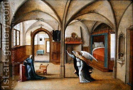The Annunciation, 1586 by Hendrik van Steenwyck - Reproduction Oil Painting