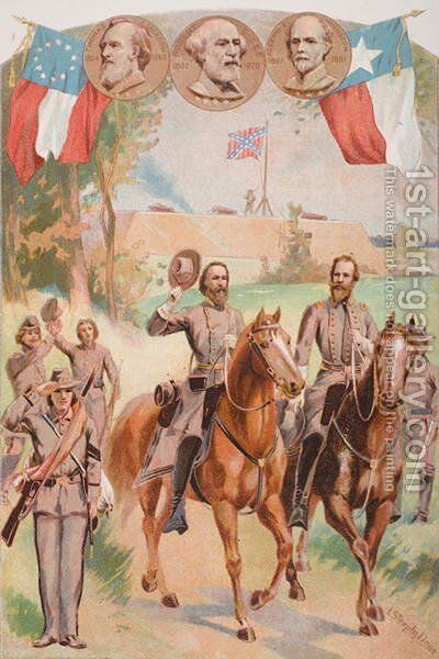 Confederate Uniforms during the American Civil War 1861-65 by (after) Steeple Davis, J. - Reproduction Oil Painting