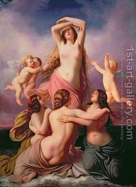 The Birth of Venus, 1846 by Eduard Steinbruck - Reproduction Oil Painting