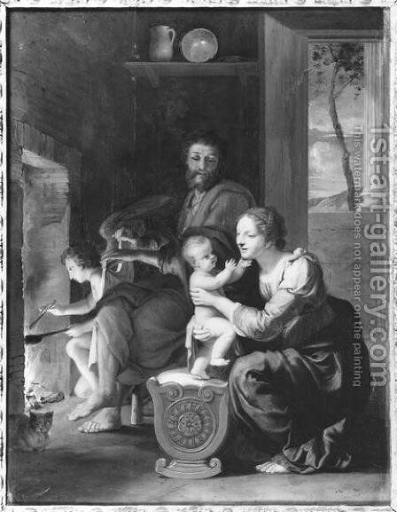 Holy Family, after 1650 by Jacques Stella - Reproduction Oil Painting
