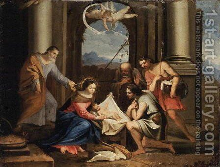 Adoration of the Shepherds by Jacques Stella - Reproduction Oil Painting