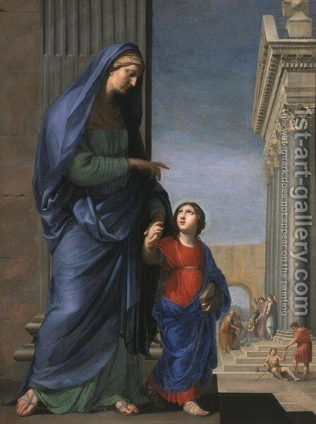 St. Anne Leading the Virgin to the Temple, c.1635-45 by Jacques Stella - Reproduction Oil Painting