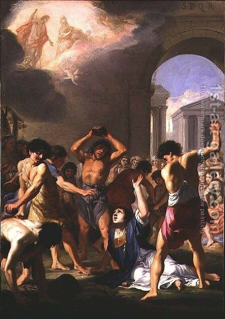 The Martyrdom of St. Stephen, c.1623 by Jacques Stella - Reproduction Oil Painting
