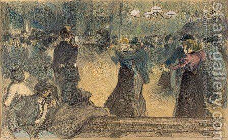 Ball at the Barriere by Theophile Alexandre Steinlen - Reproduction Oil Painting