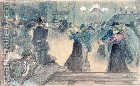 Ball in a Paris Suburb, c.1892 by Theophile Alexandre Steinlen - Reproduction Oil Painting