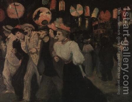 The 14th July 1895 by Theophile Alexandre Steinlen - Reproduction Oil Painting