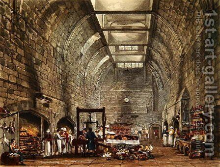 Ancient Kitchen, Windsor Castle, engraved by William James Bennett 1787-1844 from The History of the Royal Residences by William Henry Pyne 1769-1843 pub. 1818 by James Stephanoff - Reproduction Oil Painting