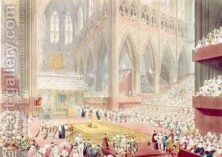The Coronation of King George IV The Recognition, 19th July 1821, engraved by Matthew Dubourg, 1822 by James Stephanoff - Reproduction Oil Painting