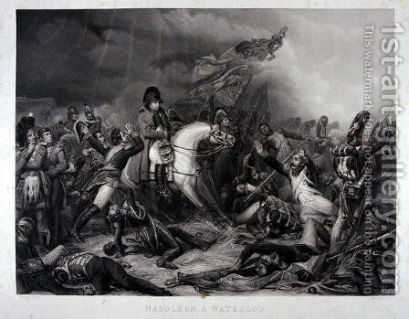 Napoleon 1769-1821 at the Battle of Waterloo, 1815 by Charles Auguste Steuben - Reproduction Oil Painting