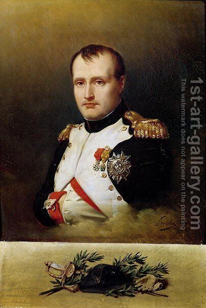 Portrait of Napoleon I 1769-1821 1812 by Charles Auguste Steuben - Reproduction Oil Painting