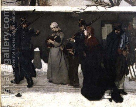 What is Called Vagrancy or, The Hunters of Vincennes, 1854 by Alfred-Emile-Leopole Stevens - Reproduction Oil Painting
