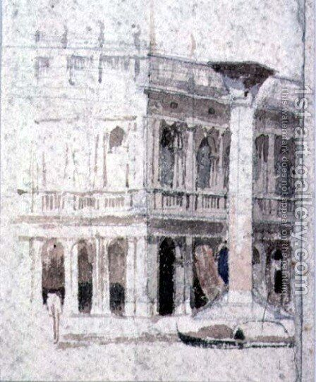 A Building in Venice, near St. Marks by Alfred George Stevens - Reproduction Oil Painting