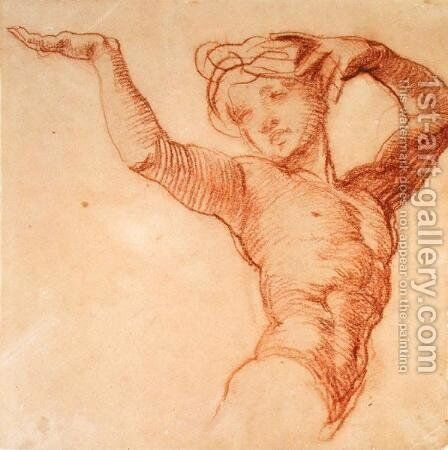 Study of a Nude Figure by Alfred George Stevens - Reproduction Oil Painting