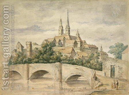 View of Fritzlar, 1848 by Eduard Stiegel - Reproduction Oil Painting