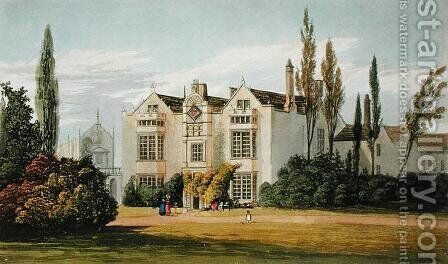 Burford Priory, from Ackermanns Repository of Arts, published c.1826 by (after) Stockdale, Frederick Wilton Litchfield - Reproduction Oil Painting