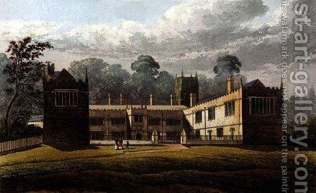 Lanhydrock House, from Ackermanns Repository of Arts, 1827 by (after) Stockdale, J.W. - Reproduction Oil Painting