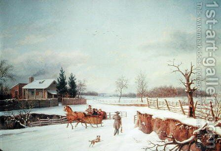 Winter Landscape by Constantin Stoiloff - Reproduction Oil Painting