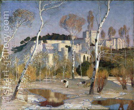 The Palace of the Popes, Avignon by Adrian Scott Stokes - Reproduction Oil Painting