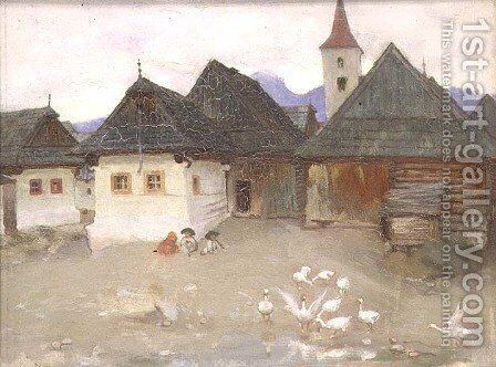 From our Windows in Vazsecz, c.1905-09 by Adrian Scott Stokes - Reproduction Oil Painting