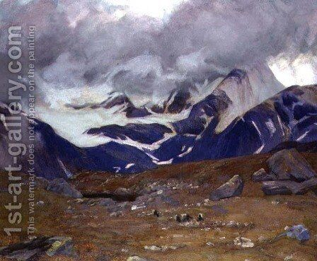 Where Chavez Flew, the Simplon Pass, 1911 by Adrian Scott Stokes - Reproduction Oil Painting