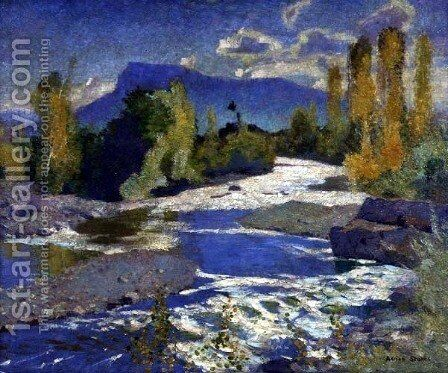 A River in the Dauphine, Afternoon, 1932 by Adrian Scott Stokes - Reproduction Oil Painting