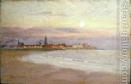 Village in Friesland, 1900 by Adrian Scott Stokes - Reproduction Oil Painting