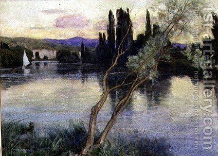 An Evening on the Seine, 1927 by Adrian Scott Stokes - Reproduction Oil Painting