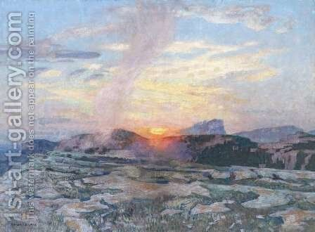 Sunset in Provence, c.1927 by Adrian Scott Stokes - Reproduction Oil Painting