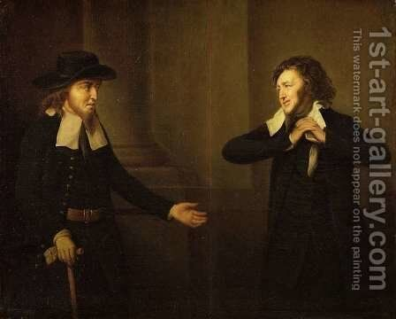 Shylock and Tubal from Act III, Scene ii of The Merchant of Venice by William Shakespeare by Herbert Stoppelaer - Reproduction Oil Painting