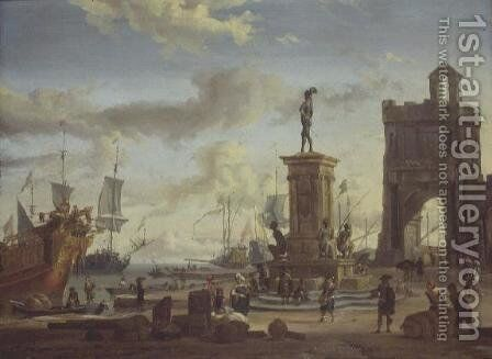 Harbour at Livorno by Abraham Storck - Reproduction Oil Painting