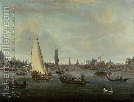 View of Amsterdam Harbour by Abraham Storck - Reproduction Oil Painting