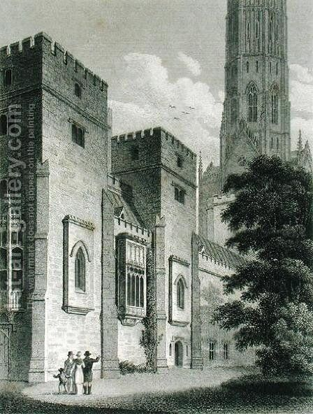 South-east View of Fonthill Abbey, published in 1812 by James Storer - Reproduction Oil Painting