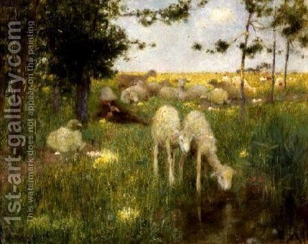 Springtime by Edward Stott - Reproduction Oil Painting