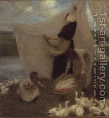 Washing Day by Edward Stott - Reproduction Oil Painting