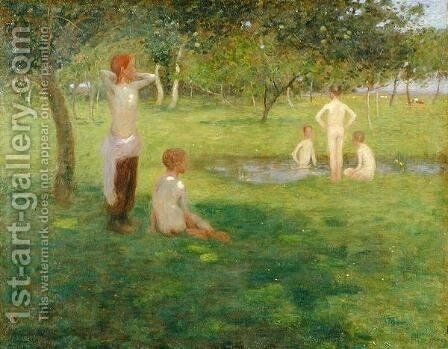 On a Summers Afternoon, 1892 by Edward Stott - Reproduction Oil Painting