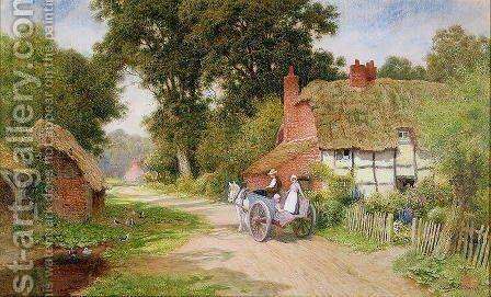 A Warwickshire Lane by Arthur Claude Strachan - Reproduction Oil Painting